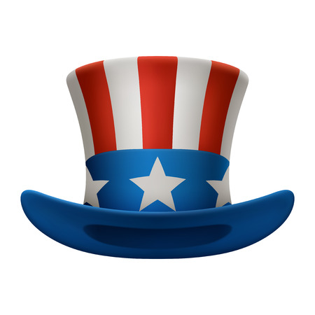Illustration of uncle sam hat, EPS 10 contains transparency.