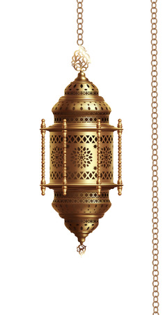 Illustration of traditional arabian lantern on white background. EPS 10 contains transparency. Zdjęcie Seryjne - 122108242