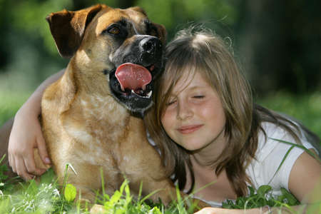 inseparable: lovely friends Stock Photo