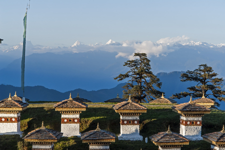 Sunset on Dochula Pass - Bhutan Editorial