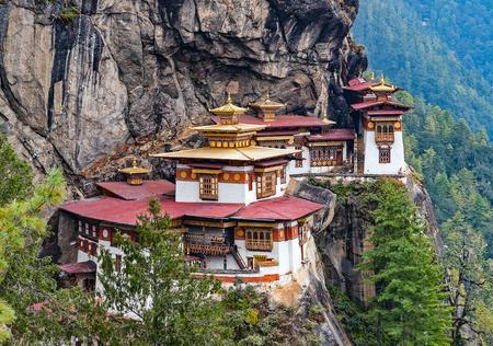 Paro Taktsang: The Tigers Nest Monastery - Bhutan. Taktsang is the popular name of Taktsang Palphug Monastery, located in the cliffside of Paro valley, in Bhutan.