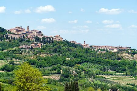 Picturesque Typical Traditional Italian Village In Tuscany - Tuscany, Italy