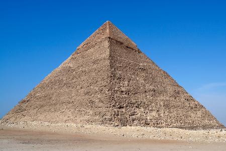 Grote piramide van Gizeh, ook bekend als de piramide van Khufu of de piramide van Cheops - Cairo, Egypte
