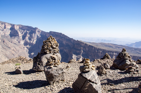 Scenic view over Jebel Shams - Sultanate of Oman Stock Photo