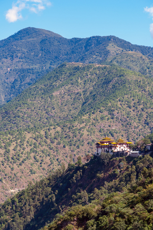 Trashigang Dzong - Eastern Bhutan. Trashigang Dzong, The Fortress of the Auspicious Hill, is one of the largest dzong fortress in Bhutan.
