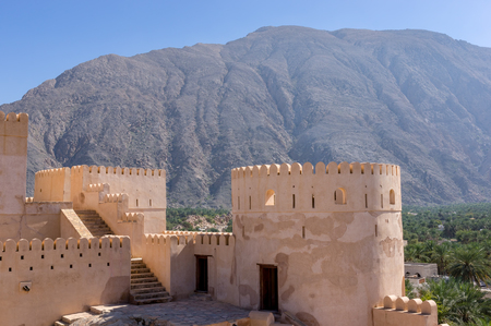 Al Batinah, Oman - December, 07, 2013: The Nakhl Fort is a large fortification in the Al Batinah Region of Oman. It is named after the Wilayah of Nakhal.