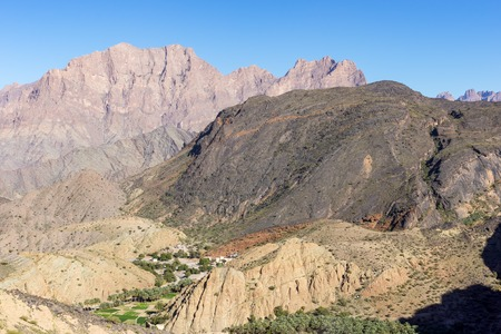 Village in the mountains of Wadi Bani Awf in Western Hajar - Oman