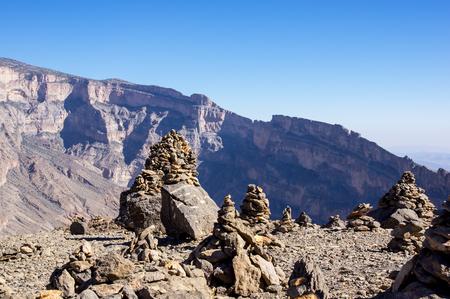 Scenic view over Jebel Shams - Sultanate of Oman Stock Photo