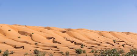 Dawn over Wahiba Sands desert - Sultanate of Oman Stock Photo