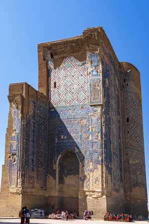 Shakhrisabz, Uzbekistan - September 19, 2013: Ruins of Ak-Saray Palace - Shakhrisabz, Uzbekistan. Timurs Summer Palace, was planned as the most grandiose of all Timurs constructions. Editöryel
