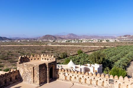 Landscape view taken from Jabreen Castle - Sultanate of Oman Reklamní fotografie - 106011581