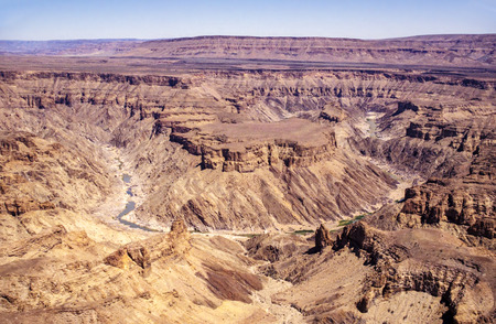 Fish River Canyon, worlds second largest canyon - South Namibia.