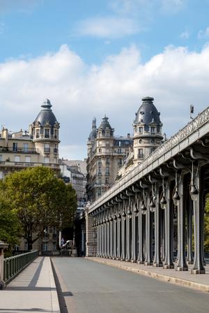 Pont de Bir-Hakeim, also known as viaduc de Passy - a bridge that cross the Seine River in Paris