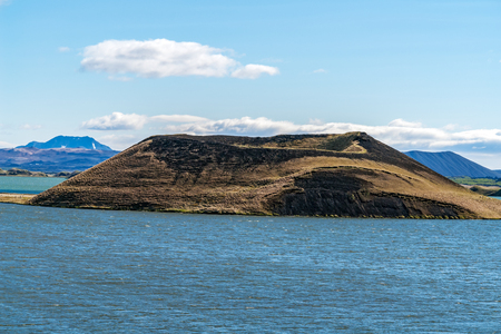 One of the Skutustadagigar pseudo-craters in the lake Myvatn area - Iceland. The nature of the lake itself and the volcanism of the region both led to the creation of these unusual formations.
