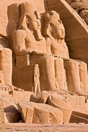 Statue of Pharaoh Ramses II at the Temple of Abu Simbel - Egypt