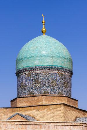 Mosque Khast-Imam dome close-up in complex Hazrati Imam - Tashkent, Uzbekistan Editorial
