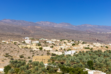 View of Al Hamra historic town - Sultanate of Oman Stock Photo