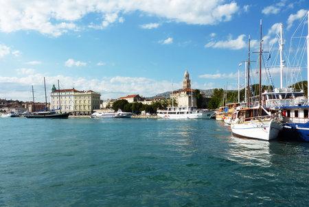 Split city marina - Dalmatia, Croatia. The Port of Split is the largest passenger port in Croatia and the third largest passenger seaport in the Mediterranean.