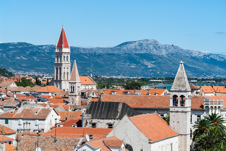 Trogir historical city - Dalmatia, Croatia. The historic city of Trogir is situated on a small island between the Croatian mainland and the island of Ciovo.
