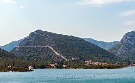 Part of the walls of Ston - Dalmatia, Croatia