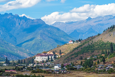 Paro Rinpung Dzong - Bhutan. It houses the district Monastic Body and government administrative offices of Paro Dzongkhag
