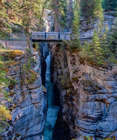 Maligne Canyon - Canadian Rockies, Jasper National Park - Alberta, Canada.