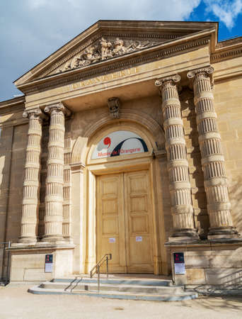 Paris, France - March 13 2020: The Musee de l'Orangerie museum in Paris closed because of Coronavirus epidemic Editorial