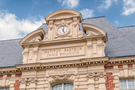 Paris, France - February 09 2020: Old building facade of the Pasteur institute in Paris Editorial
