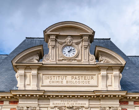 Paris, France - March 11 2020: Old building facade of the Pasteur institute in Paris Banco de Imagens - 147926132