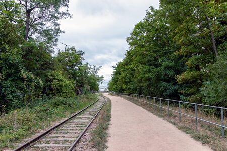 Paris, France: Old railways ring of the Petite Ceinture, transformed as a promenade area.