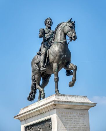 Paris, France: Equestrian statue of Henry IV by Pont Neuf - Paris, France