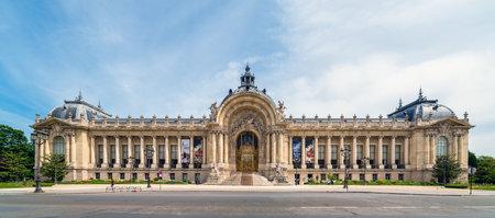 Paris, France - May 12 2020: Panoramic view of Closed Petit Palais museum during Covid-19 Lockdown in Paris