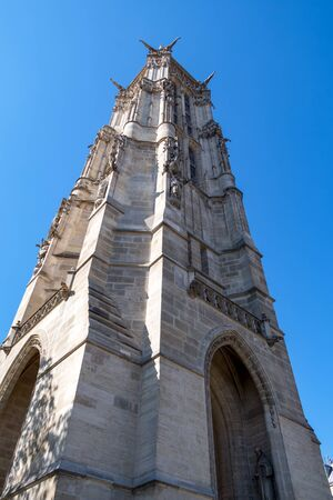 Saint-Jacques Tower (Tour Saint-Jacques) located on Rivoli street in Paris, France. Zdjęcie Seryjne