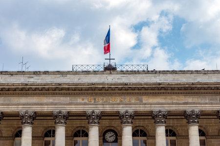 Paris, France - April 14, 2019: Paris Bourse stock exchange building located in Brongniart palace