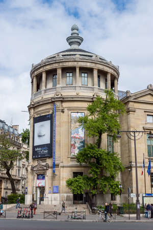 Paris, France - May 5, 2019: Musee Guimet (or Musee national des arts asiatiques) is an art museum located on place d'Iena in Paris