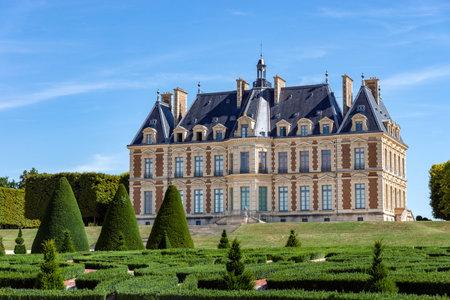 Sceaux, France - August 30 2019: Chateau de Sceaux inside parc de Sceaux in summer - Hauts-de-Seine, France. Editorial