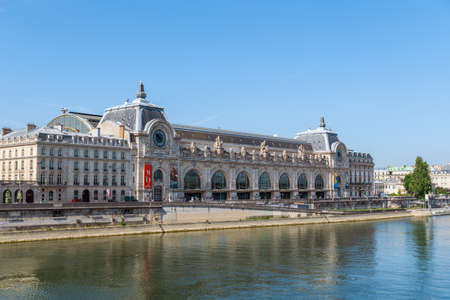 Paris, France - May 26 2020: Musee dOrsay in Paris. It is housed in the former Gare d Orsay, a Beaux-Arts railway station built between 1898 and 1900.