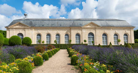 Sceaux, France - June 19 2020: Orangery in Parc de Sceaux, built in 1686 by Jules Hardouin Mansar - Hauts-de-Seine, France. Editorial