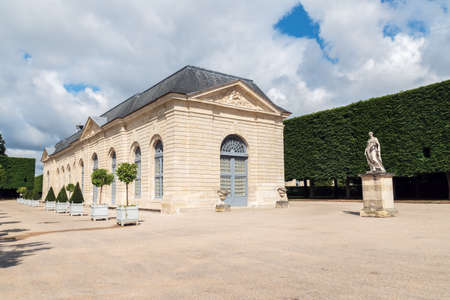 Sceaux, France - June 19 2020: Orangery building in Parc de Sceaux, built in 1686 by Jules Hardouin Mansar - Hauts-de-Seine, France.