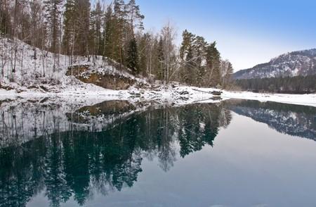 Blue warm nonfreezing lake in Mountain Altai. Stock Photo - 4140331