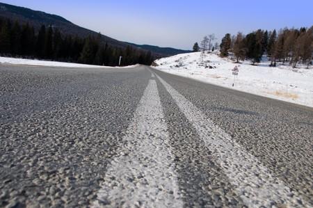 Giro peligroso en carretera de monta�a. Foto de archivo - 4140334
