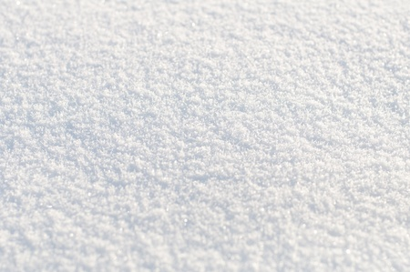 Background from white  snow. Small depth of focus center.  photo