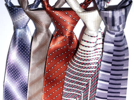 a group of ties isolated in white photo