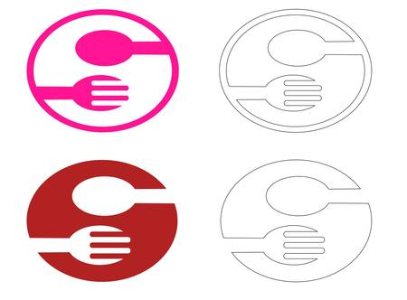 logo for restaurant and cafe Vector