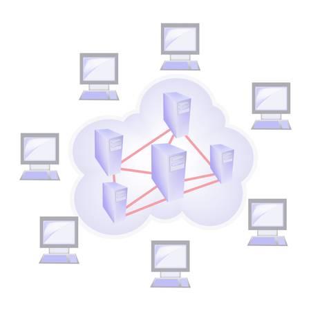 Cloud computing concept Stock Vector - 11376977
