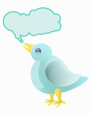 Tweet little bird Vector