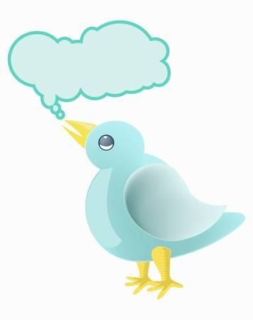 little bird: Tweet pajarito Vectores