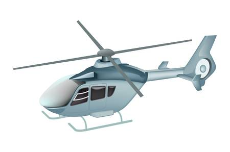 rescue helicopter: helicopter isolated Illustration
