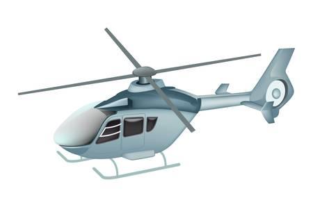 helikopter geïsoleerde Vector Illustratie