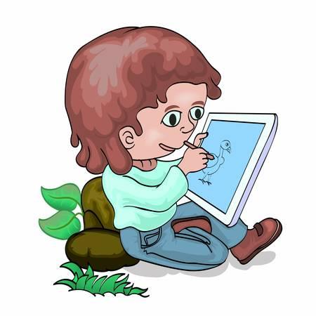 tablette pc: Dessin Boy sur tablette PC